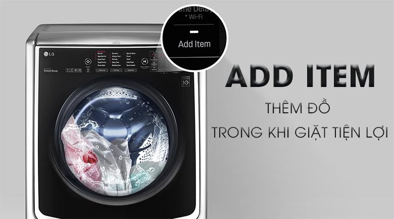 Chức năng ADD ITEM - Máy giặt sấy LG Inverter 21 kg F2721HTTV