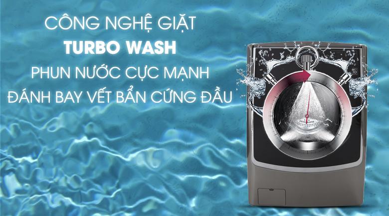 Công nghệ Turbo Wash - Máy giặt sấy LG Inverter 21 kg F2721HTTV