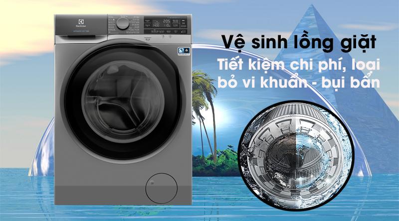 Máy giặt Electrolux Inverter 11 kg EWF1141AESA - Tiết kiệm chi phí, giúp máy bền lâu với tính năng vệ sinh lồng giặt