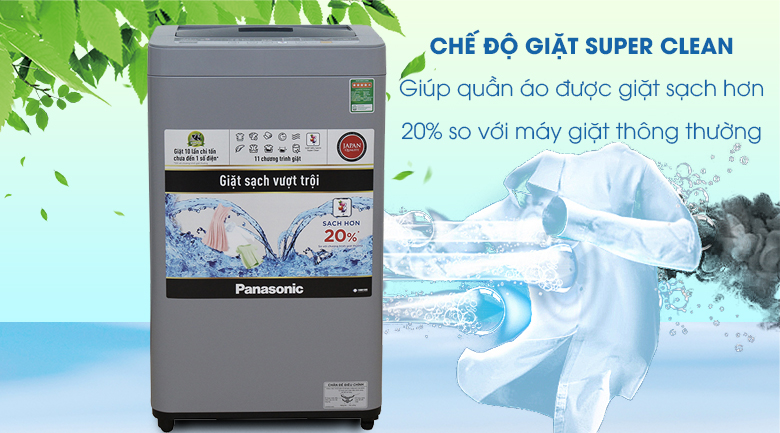 Super Clean - Máy giặt Panasonic 7 kg NA-F70VS9GRV
