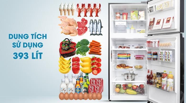 Dung tích 393 lít - Tủ lạnh LG Inverter 393 lít GN-L422GB