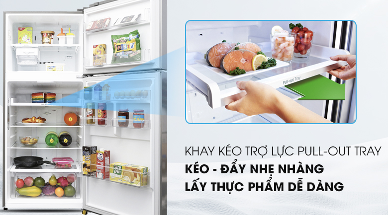 Khay trợ lực Pull Out tray - Tủ lạnh LG Inverter 393 lít GN-L422PS