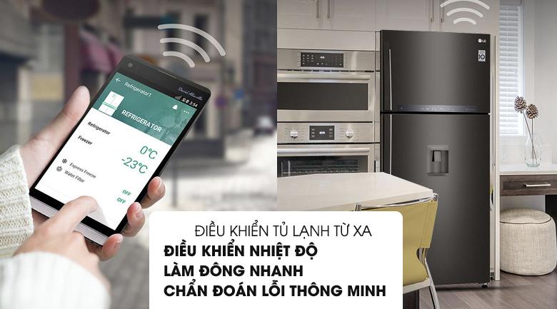 Chẩn đoán thông minh - Tủ lạnh LG Inverter 475 lít GN-D602BL