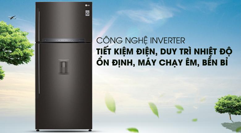 Công nghệ Inverter - Tủ lạnh LG Inverter 475 lít GN-D602BL