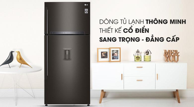 Tủ lạnh LG Inverter 475 lít GN-D602BL