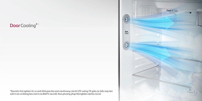 Làm lạnh nhanh và đều với công nghệ DoorCooling+
