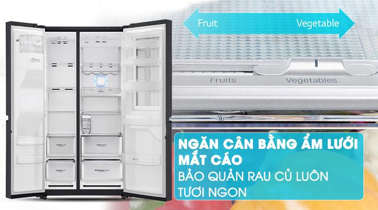 Ngăn cân bằng độ ẩm với lưới mắt cáo - Tủ lạnh LG Inverter InstaView Door-in-Door 601 lít GR-X247MC
